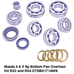 Mazda 4 & 5 Sp Bottom Pan Overhaul Kit RX3 and RX4 DTSBK171AWS6