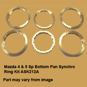 Mazda 4 & 5 Sp Bottom Pan Synchro Ring Kit ASK212A