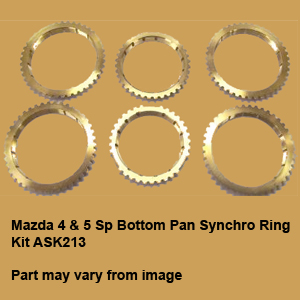 Mazda 4 & 5 Sp Bottom Pan Synchro Ring Kit ASK213