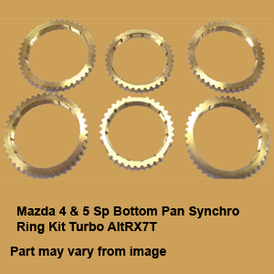 Mazda 4 & 5 Sp Bottom Pan Synchro Ring Kit Turbo AltRX7T