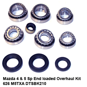 Mazda 4 & 5 Sp End loaded Overhaul Kit 626 M5TXA DTSBK21092