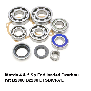 Mazda 4 & 5 Sp End loaded Overhaul Kit B2000 B2200 DTSBK137L