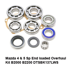 Mazda 4 & 5 Sp End loaded Overhaul Kit B2000 B2200 DTSBK137LWS