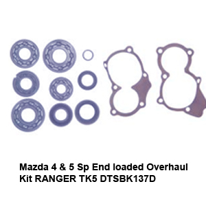 Mazda 4 & 5 Sp End loaded Overhaul Kit RANGER TK5 DTSBK137D