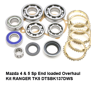 Mazda 4 & 5 Sp End loaded Overhaul Kit RANGER TK5 DTSBK137DWS