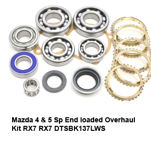 Mazda 4 & 5 Sp End loaded Overhaul Kit RX7 RX7 DTSBK137LWS5