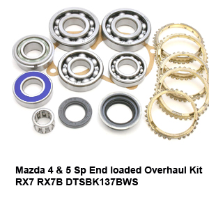 Mazda 4 & 5 Sp End loaded Overhaul Kit RX7 RX7B DTSBK137BWS
