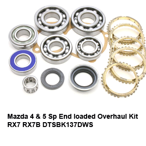 Mazda 4 & 5 Sp End loaded Overhaul Kit RX7 RX7B DTSBK137DWS