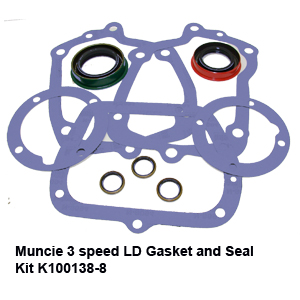 Muncie 3 speed LD Gasket and Seal Kit K100138-86
