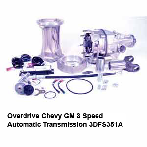 Overdrive Chevy GM 3 Speed Automatic Transmission 3DFS351A
