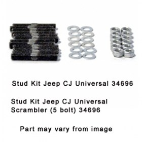 Stud Kit Jeep CJ Universal Scrambler (5 bolt) 34696