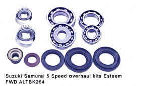 Suzuki Samurai 5 Speed overhaul kits Esteem FWD ALTBK264